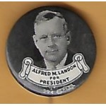 Landon 5F - Alfred M. Landon For President Campaign Button