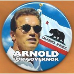 CA 11J - Arnold For Governor  California Republic Campaign Button