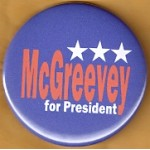 NJ 31N - McGreevey for President Campaign Button