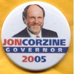 NJ 18C - Jon Corzine Governor 2005 Campaign Button