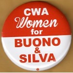 NJ 7N - CWA Women for Buono & Silva Campaign Button