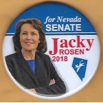 NV 1B - for Nevada Senate Jacky Rosen 2018 Campaign Button