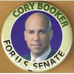 NJ 28C - Cory Booker For U.S. Senate Campaign Button