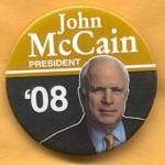 McCain 10A - John McCain President '08 Campaign Button