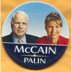 McCain 19A - McCain and Palin Campaign Button