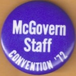McGovern 2J -  McGovern Staff Convention '72 Campaign Button