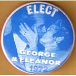 McGovern 2M  - Elect George & Eleanor 1972 Campaign Button