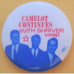 McGovern 8L - Camelot Continues With Shriver Veep  Campaign Button