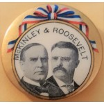 McKinley 8E - McKinley & Roosevelt Campaign Button