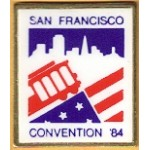 Mondale 22E - San Francisco Convenion '84 Lapel Pin