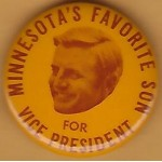 Mondale 4L  - Minnesota's Favorite Son For Vice President Campaign Button