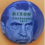 Nixon 18G - Nixon  President 1972 Campaign Button