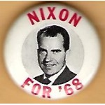 Nixon 1V - Nixon For '68 Campaign Button