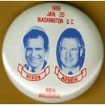 Nixon 32G - Nixon Agnew 46th Inaugural Campaign Button