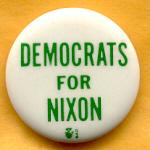 Nixon 33B - Democrats For Nixon Campaign Button