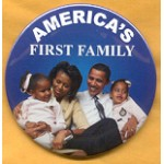 Obama 40A - America's First Family Campaign Button