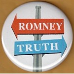Obama 44F - Romney Truth Campaign Button
