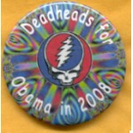 Obama 7A - Deadheads for Obama in 2008 Campaign Button