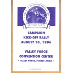 3rd Party 31R - Reform Party Campaign Kick-Off Rally August 18, 1996 (Ross Perot) Paper Flyer