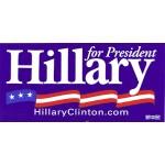 Hillary 21D - Hillary for President Bumper Sticker