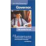 NJ 54A - Jim McGreevey Governor Paper Flyer