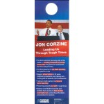 NJ 65A - Jon Corzine Leading Us Through Tough Times Paper Door Hanger