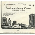 Carter 2K - President Jimmy Carter October 25, 1980 Campaign Event Ticket