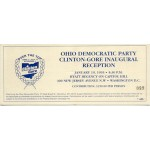 Clinton 132A - Ohio Democratic Party Clinton Gore Inaugural Reception Paper Ticket