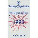 Clinton 134A - Sheraton Washington Hotel Inauguration 1993 Hotel Key
