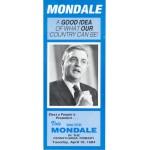 Mondale 2F  -  Vote Walter Mondale In The Pennsylvania Primary Paper Flyer