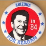 Reagan 105C -  Arizona in '84 For Reagan Campaign Button