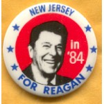 Reagan 108K - New Jersey in '84 For Reagan Campaign Button