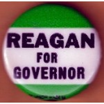 Reagan 1Q - Reagan For Governor Campaign Button
