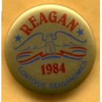 Reagan 26C - Reagan 1984 Continue Reaganomics Campaign Button
