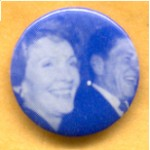 Reagan 27C - Ronald and Nancy Reagan Campaign Button