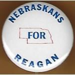 Reagan 29G  - Nebraska For Reagan Campaign Button