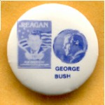 Reagan 33B - Reagan George Bush Campaign Button