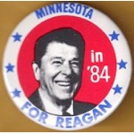 Reagan 35G - Minnesota in '84 For Reagan Campaign Button