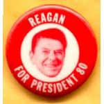 Reagan 39E - Reagan For President 80 Campaign Button