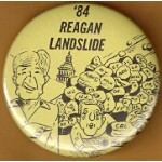 Reagan 41J -  '84 Reagan Landslide Campaign Button