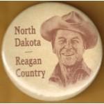 Reagan 7K - North Dakota Reagan Country Campaign Button