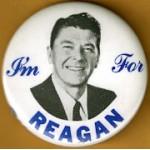 Reagan 81B - I'm With Reagan Campaign Button