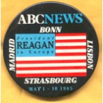 Reagan 8B - President Reagan ABC News Campaign Button