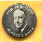 Smith 3A - For President Alfred E. Smith Campaign Button