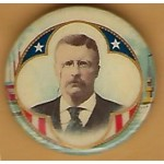 T.R. 5J - (Teddy Roosevelt) Campaign Button