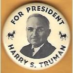 Truman 1C - For President Harry S. Truman Campagin Button