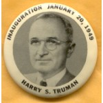 Truman 2D - Inauguration January 20, 1949  Harry S. Truman Campaign Button