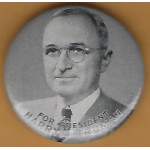 Truman 2H - For President Harry S. Truman Campagin Button