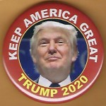 Trump 14E - Keep America Great Trump 2020 Campaign Button