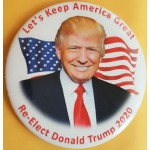 R2020 2B - Let's Keep America Great Re - Elect Donald Trump 2020 Campaign Button